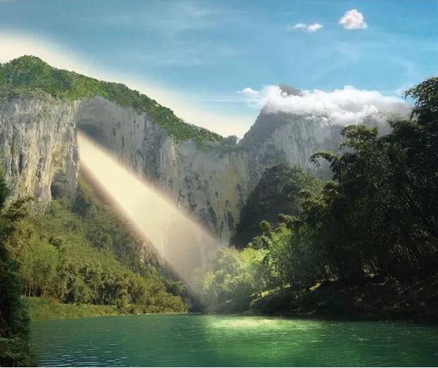 壁纸 风景 旅游 瀑布 山水 桌面 639_537